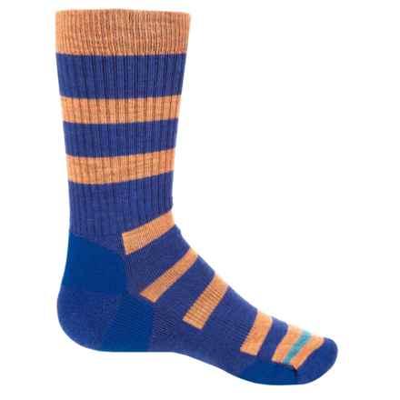 Point6 Firecracker Socks - Merino Wool, Crew (For Big Kids) in Blue Violet - Closeouts