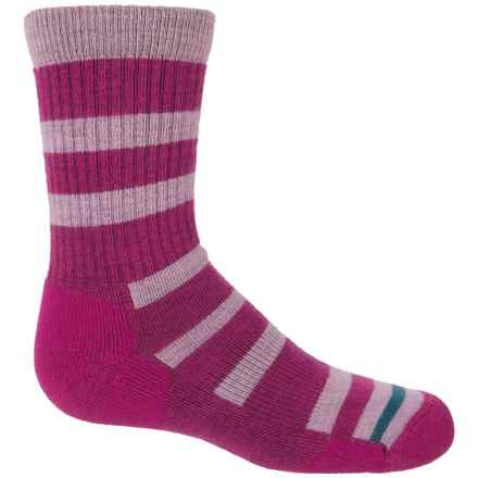 Point6 Firecracker Socks - Merino Wool, Crew (For Big Kids) in Fuchsia - Closeouts