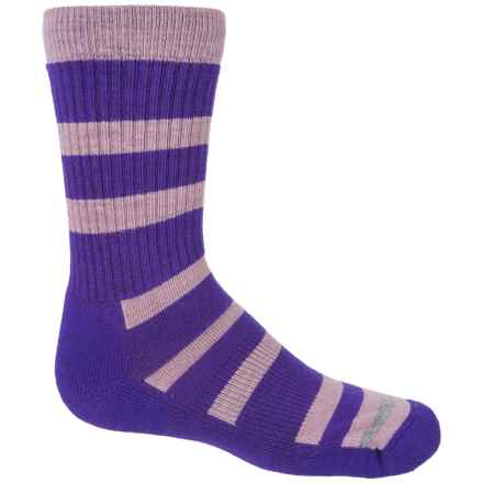 Point6 Firecracker Socks - Merino Wool, Crew (For Big Kids) in Purple - Closeouts