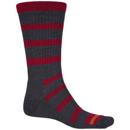 Point6 Firecracker Socks - Merino Wool, Crew (For Men and Women) in Gray/Red - Closeouts
