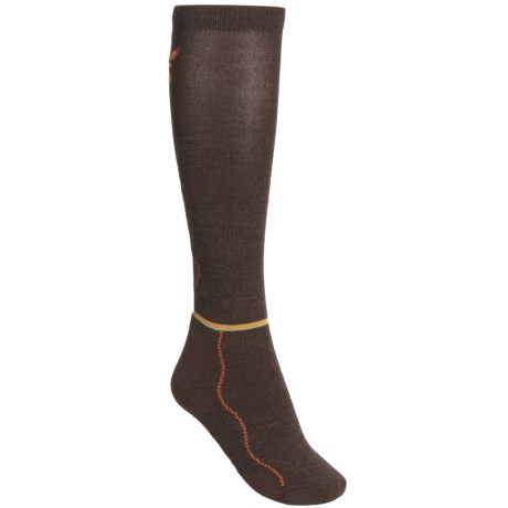 Point6 Flutterby Socks - Merino Wool, Over-the-Calf (For Women) in Chestnut