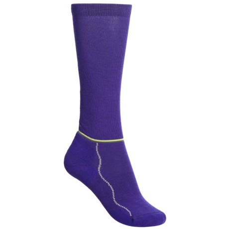Point6 Flutterby Socks - Merino Wool, Over the Calf (For Women) in Chestnut