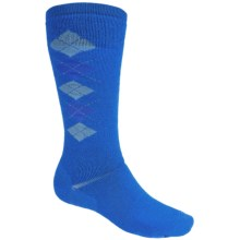 Point6 Gnargyle Snowboard Socks - Merino Wool, Over-the-Calf (For Men and Women) in Blue - 2nds
