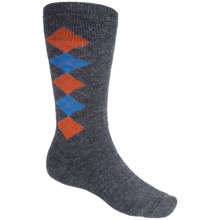 Point6 Gnargyle Snowboard Socks - Merino Wool, Over-the-Calf (For Men and Women) in Grey - 2nds