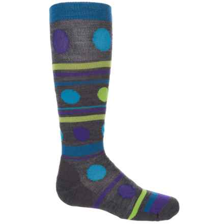 Point6 Gum Drop Socks - Merino Wool, Over the Calf (For Little and Big Kids) in Gray - Closeouts