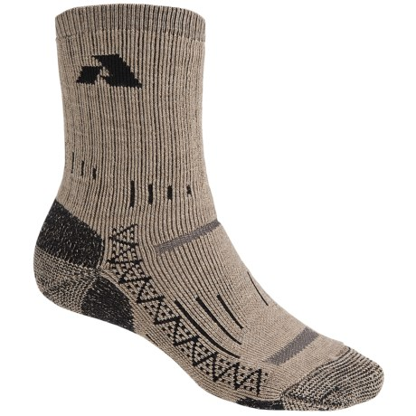 Point6 Heavyweight All Mountain Socks - Merino Wool, Crew (For Men and Women) in Taupe