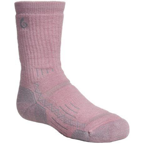 Point6 Hike Tech Socks - Merino Wool Blend, Midweight, Crew (For Kids and Youth) in Taupe