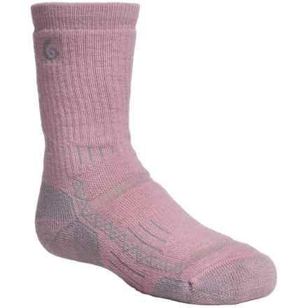 Point6 Hike Tech Socks - Merino Wool Blend, Midweight, Crew (For Little and Big Kids) in Pink - 2nds