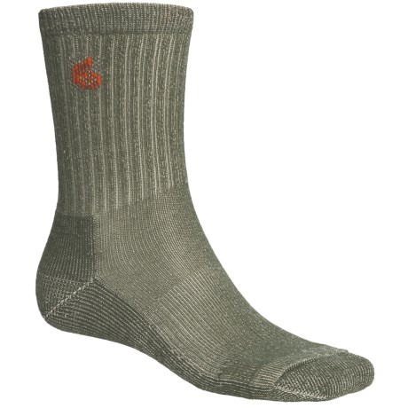 Point6 Hiking Core Lightweight Socks - Merino Wool, Crew (For Men and Women) in Olive