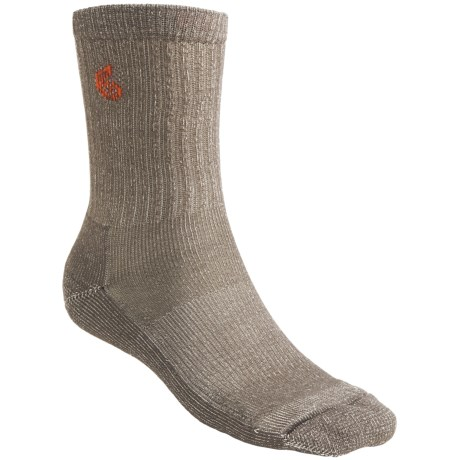 Point6 Hiking Core Lightweight Socks - Merino Wool, Crew (For Men and Women) in Taupe