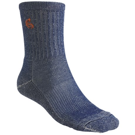 Point6 Hiking Core Medium-Weight Socks - Merino Wool, Crew (For Men and Women) in Navy