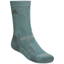 Point6 Hiking Crew Socks - Merino Wool, Lightweight (For Men and Women) in Ocean - 2nds