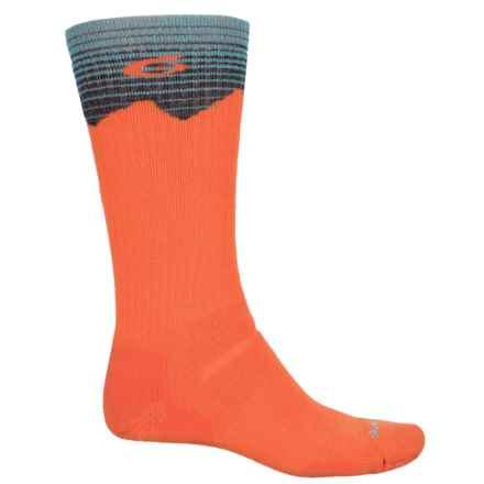 Point6 Hiking Peak Medium Socks - Merino Wool, Crew (For Men and Women) in Orange - Closeouts