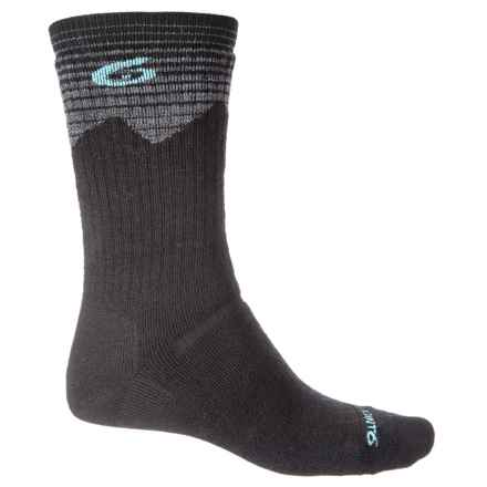 Point6 Hiking Peak Midweight Socks - Merino Wool, Crew (For Men and Women) in Black - Closeouts