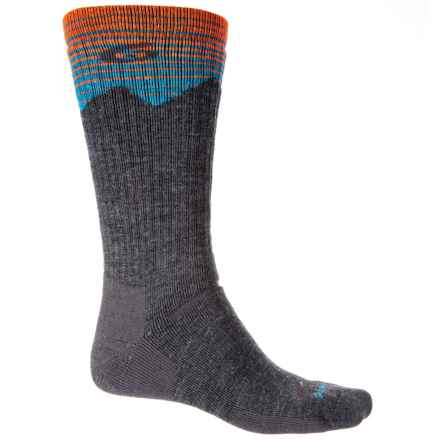 Point6 Hiking Peak Midweight Socks - Merino Wool, Crew (For Men and Women) in Gray - Closeouts