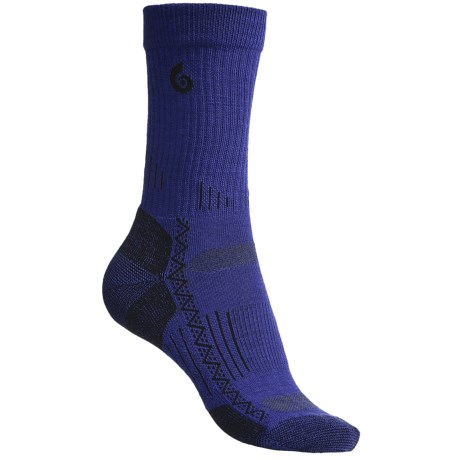 Point6 Hiking Tech Crew Socks - Lightweight (For Women) in Blue/Violet