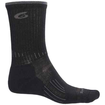 Point6 Hiking Tech Light Socks - Merino Wool, Crew (For Men and Women) in Black - Closeouts