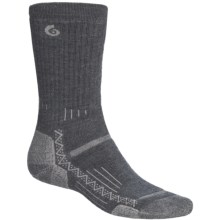 Point6 Hiking Tech Medium-Weight Socks - Merino Wool, Crew (For Men and Women) in Grey - 2nds