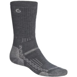 Point6 Hiking Tech Medium-Weight Socks - Merino Wool, Crew (For Men and Women) in Grey