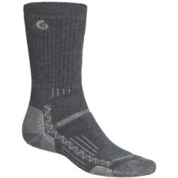 Point6 Hiking Tech Medium-Weight Socks - Merino Wool, Crew (For Men and Women) in Black