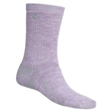Point6 Hiking Tech Medium-Weight Socks - Merino Wool, Crew (For Men and Women) in Lavender - 2nds