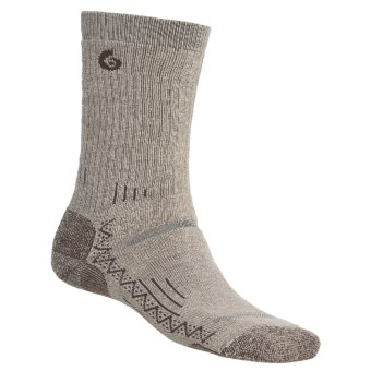 Point6 Hiking Tech Medium-Weight Socks - Merino Wool, Crew (For Men and Women) in Oatmeal
