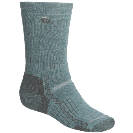 Point6 Hiking Tech Medium-Weight Socks - Merino Wool, Crew (For Men and Women) in Ocean