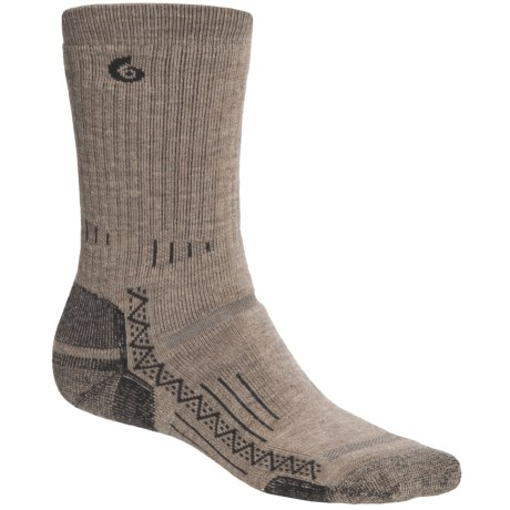 Point6 Hiking Tech Medium-Weight Socks - Merino Wool, Crew (For Men and Women) in Taupe