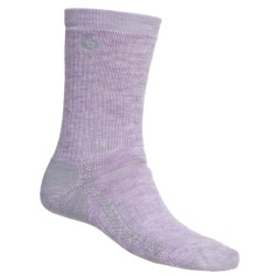 Point6 Hiking Tech Medium-Weight Socks - Merino Wool, Crew (For Women) in Lavender