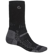 Point6 Hiking Tech Midweight Socks - Merino Wool, Crew (For Men and Women) in Black - Closeouts