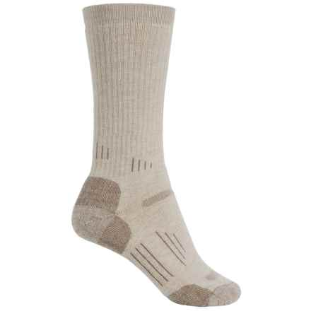 Point6 Hiking Tech Midweight Socks - Merino Wool, Crew (For Men and Women) in Desert Sand - 2nds