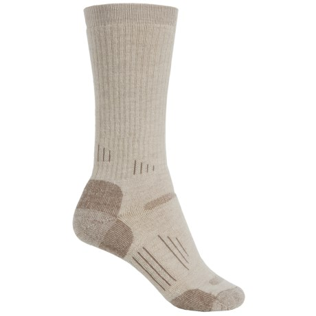 Point6 Hiking Tech Midweight Socks - Merino Wool, Crew (For Men and Women) in Desert Sand