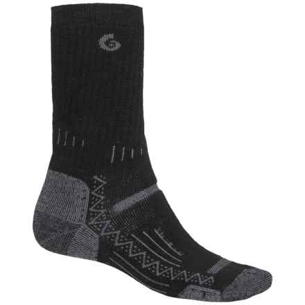 Point6 Hiking Tech Midweight Socks - Merino Wool, Crew (For Men) in Black - Closeouts