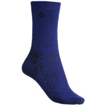 Point6 Hiking Tech Midweight Socks - Merino Wool, Crew (For Women) in Blue/Violet - 2nds