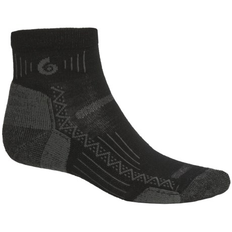 Point6 Hiking Tech Mini Socks - Lightweight (For Men and Women) in Black