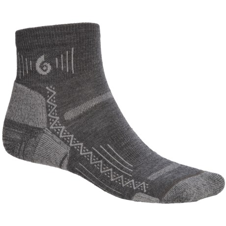 Point6 Hiking Tech Mini Socks - Lightweight (For Men and Women) in Grey