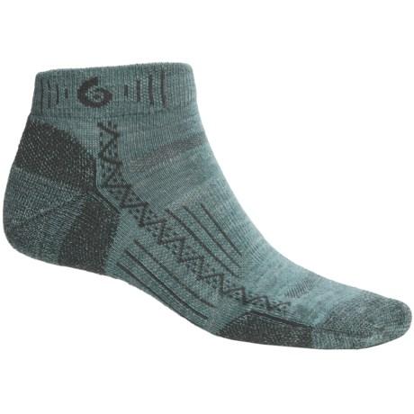 Point6 Hiking Tech Mini Socks - Lightweight (For Men and Women) in Ocean