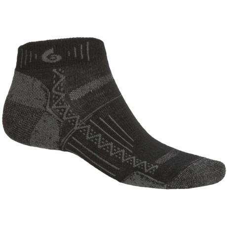 Point6 Hiking Tech Mini Socks - Merino Wool Blend, Ankle (For Men and Women) in Black
