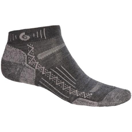 Point6 Hiking Tech Mini Socks - Merino Wool Blend, Ankle (For Men and Women) in Grey