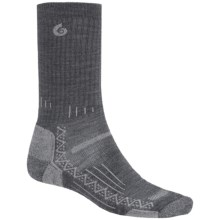 Point6 Hiking Tech Ribbed Socks - Merino Wool, Crew (For Men and Women) in Gray - Closeouts