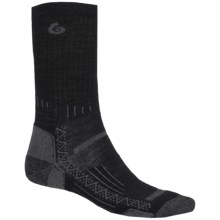Point6 Hiking Tech Ribbed Socks - Merino Wool, Crew (For Men) in Black - 2nds