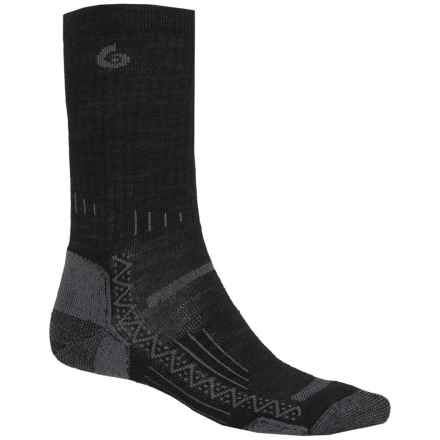 Point6 Hiking Tech Ribbed Socks - Merino Wool, Crew (For Men) in Black - Closeouts