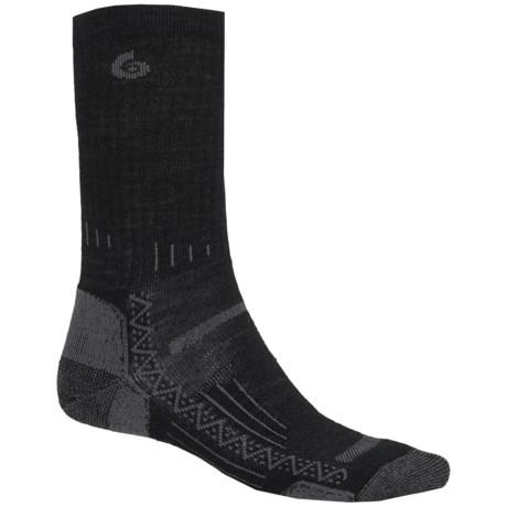 Point6 Hiking Tech Ribbed Socks - Merino Wool, Crew (For Men)