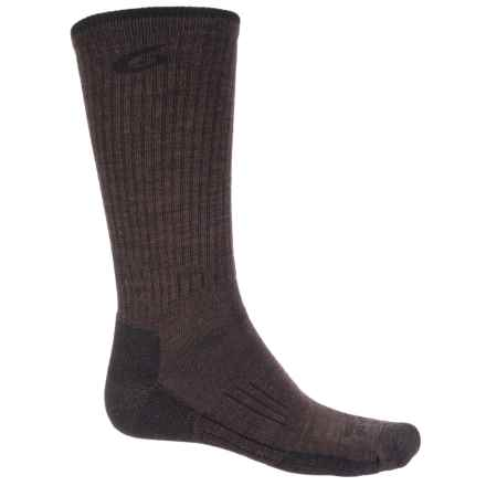 Point6 Hiking Tech Ribbed Socks - Merino Wool, Crew (For Men) in Chesnut - Closeouts