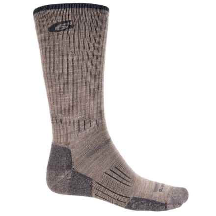 Point6 Hiking Tech Ribbed Socks - Merino Wool, Crew (For Men) in Taupe - Closeouts