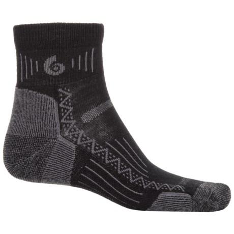 Point6 Hiking Tech Socks - Merino Wool, Ankle (For Men and Women) in Black
