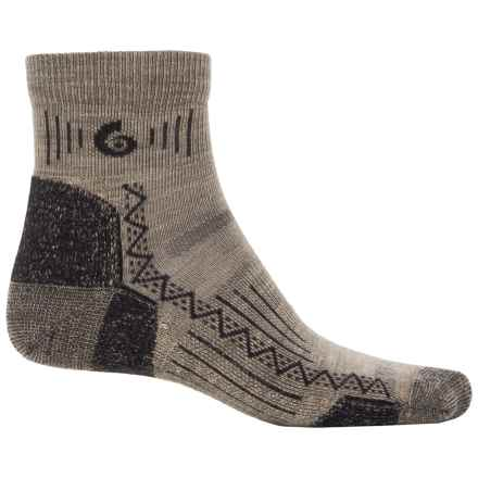 Point6 Hiking Tech Socks - Merino Wool, Ankle (For Men and Women) in Taupe - Closeouts