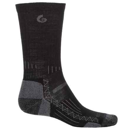 Point6 Hiking Tech Socks - Merino Wool, Crew (For Men and Women) in Black - Closeouts