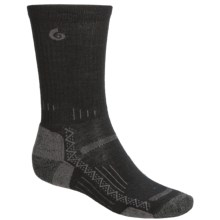 Point6 Hiking Tech Socks - Merino Wool, Crew (For Men and Women) in Black - 2nds