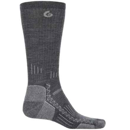 Point6 Hiking Tech Socks - Merino Wool, Crew (For Men and Women) in Gray - Closeouts